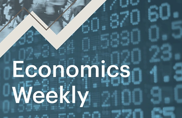"A graphic of a graph with ""Economics Weekly"" text"